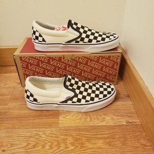 NWT Vans Classic Slip-On Checkerboard